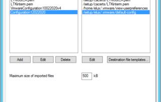 Horizon view config files for eLux